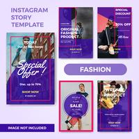 Instagram fashion story template vector