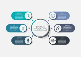 Visualización de datos empresariales. Iconos de infografía de línea de tiempo diseñados para la plantilla de fondo abstracto