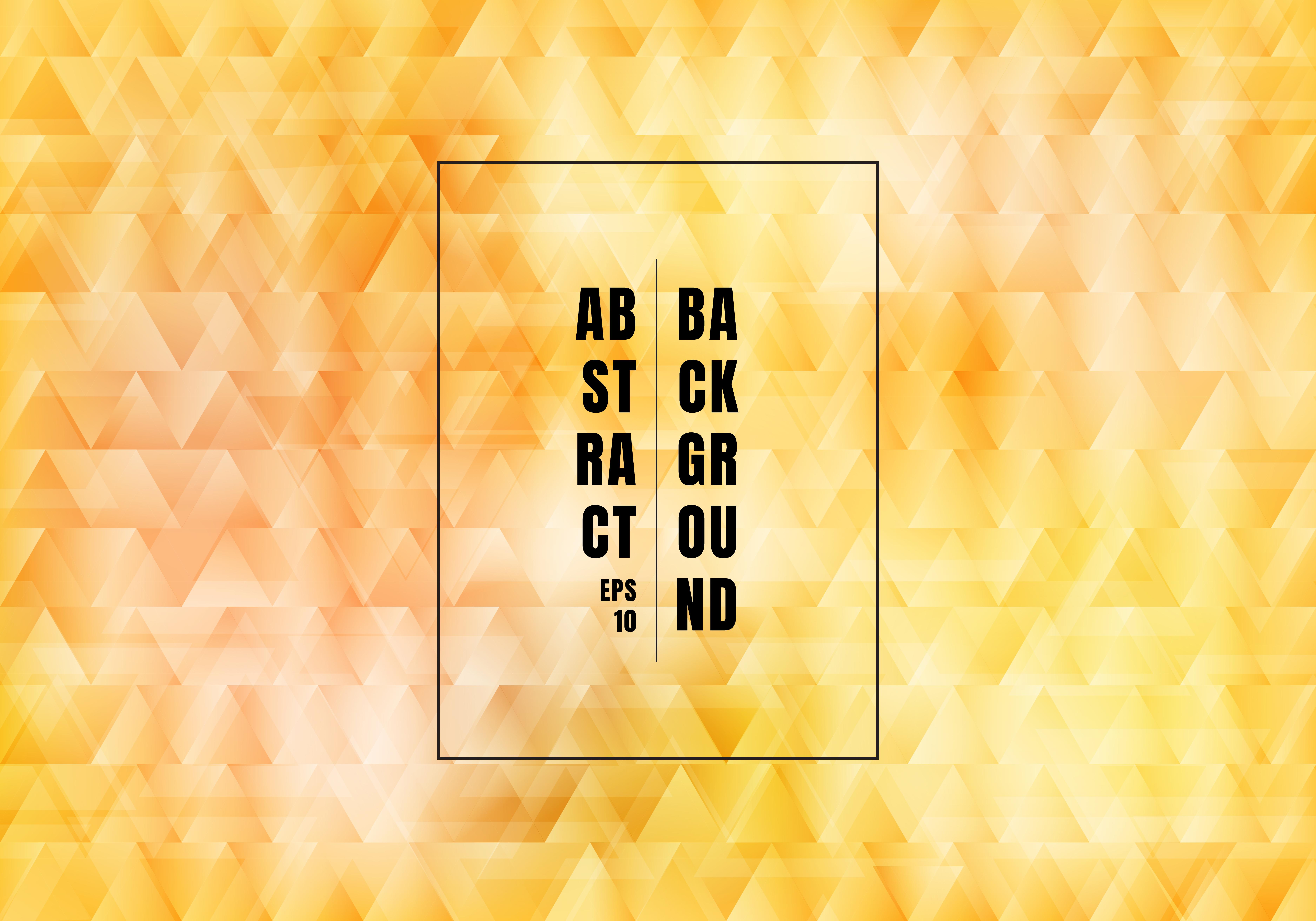 I triangoli gialli astratti si sovrappongono il fondo e