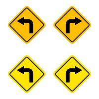 Draai links of draai rechts teken vector logo sjabloon afbeelding ontwerp. Vector EPS 10.