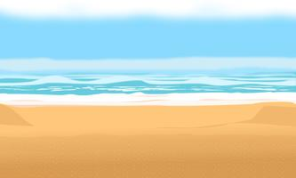 Sfondo per la spiaggia e le vacanze estive. illustrazione vettoriale