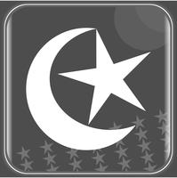 Icon concept Star and crescent symbol of Islam flat icon for social application online vector