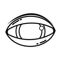 Línea del ojo humano al icono de visión óptica.