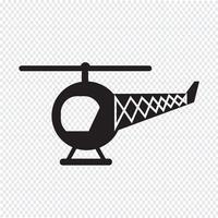 Sinal de símbolo de ícone de helicóptero