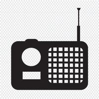 radio icon  symbol sign vector
