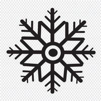 icono de copo de nieve símbolo de signo