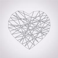 icono del corazón símbolo de signo