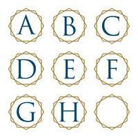 Alfabeto o lettera con ornamentale Ring Illustration Design. Vettore ENV 10.