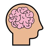 silueta hombre con anatomía cerebro diseño