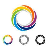 Buntes Kreislinsen-Logo Template Illustration Design. Vektor EPS 10.