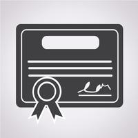 Certificaat pictogram symbool teken