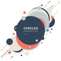 Abstracto geométrico azul, naranja, diseño de patrón de formas de círculos con líneas diagonales sobre fondo blanco. Puede usar para moderno, portada, plantilla, decoración, folleto, volante, banner web, etc.
