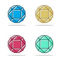 Diamond Gemstone Vector Logo Template Illustratieontwerp. Vector EPS 10.
