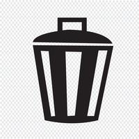 Signe symbole icône bin