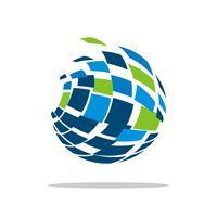 Kugel Logo Template für Kommunikations-Geschäfts-Illustrations-Design. Vektor EPS 10.