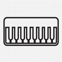 Sinal de símbolo de ícone de piano