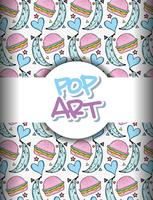 Fundo de pop art