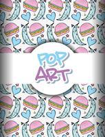 Pop-art achtergrond