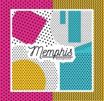 Design de fond coloré de Memphis