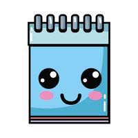 kawaii carino strumento per notebook felice