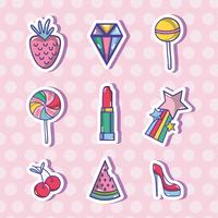 Set Fashion Patches trendiges Design