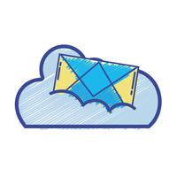 cloud data with e-mail card message