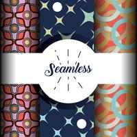 set abstract seamless pattern background design