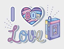 Eu amo desenhos animados dos anos 80