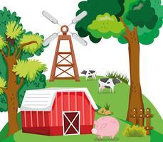 Bellissimi cartoni animati della fattoria