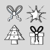 set merry chrstmas decoration design