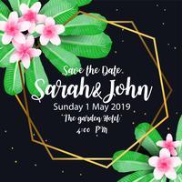 Inviti di nozze Vettore di disegno di linea geometrica oro e sfondo.