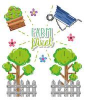 Farm pixelteckningar