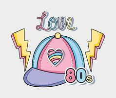 I love the 80s vector