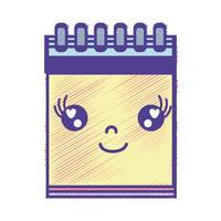 kawaii schattig blij notitieboekje gereedschap