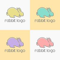 vecteur de conception de logo lapin