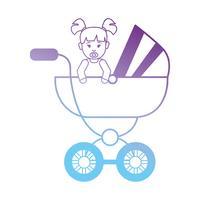 linje baby flicka inne barnvagn design