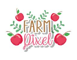 Farm pixel cartoons