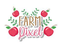 boerderij pixel cartoons