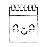 figur kawaii söt glad bärbar dator verktyg