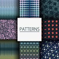 Set nahtlose Muster Design Hintergrund Dekoration