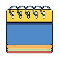 informações de calendário para o dia do evento organizador