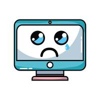 kawaii cute crying screen monitor