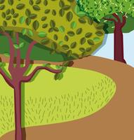 Cenário bela floresta vetor
