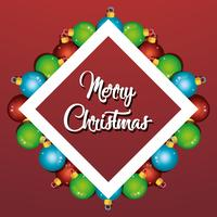 merry christmas balls decoration poster design