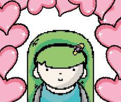 Jolie fille pixel art