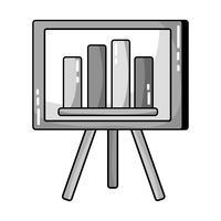 grijswaardenstrategiepresentatie met grafische balk met statistieken
