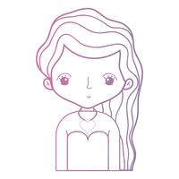 Línea belleza mujer con peinado desiand y blusa