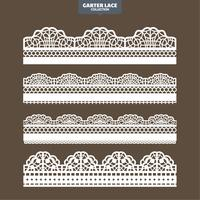 Set Garter Lace Ornament for Embroidery Cutting Paper and Laser Cut
