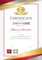 Luxe certificaatsjabloon met elegant gouden grenskader, Diplomaontwerp voor graduatie of voltooiing