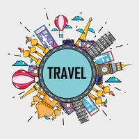 travel vacation countries to visit vector